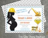 Under Construction Baby Shower Invitation