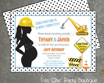 Under Construction Baby Shower Invitation