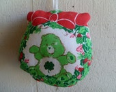 Vintage Care Bear Good Luck Bear Cloth Christmas Ornament
