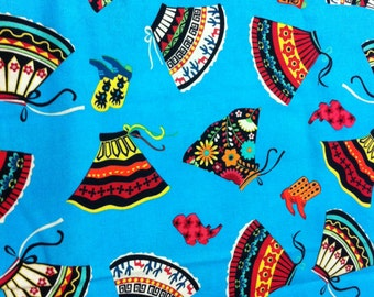 COWGIRL Printed Cotton Fabric/ Sewing Craft Supplies/Apparel Fabric/ Quilt 100% Cotton Fabric/Home Decor
