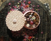 Miniature Box of Chocolates 12th Scale Shabby Chic