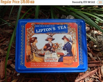 LABOR DAY SALE Vintage Lipton's Tea Tin~Limited Edition~Collectible Tins