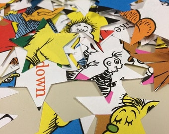 Star Confetti from Old Hop on Pop Seuss Book Over 300 Punches - Rippy Bits by TangoBrat