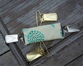 Custom FABRIC clip. Send me your fabric Dressclip, shirt clip, jacket clip, vest clip, waist cinch, Alternative to a Belt