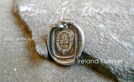 ERIN Go BRACH ~ IRELAND Forever Wax Seal Necklace