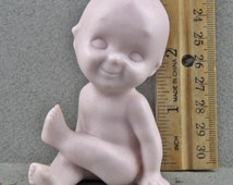 Vintage Porcelain Un Painted  Kewpie Doll From Japan  ready to paint.