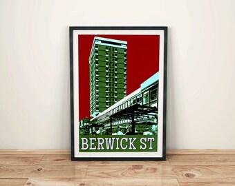 Berwick Street Market Soho Art Print
