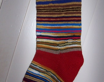 New Hand Knit Christmas Stocking  Personalized: Ready to be shipped