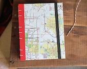 Vintage Maps Travel Journal - US Maps -  Sketchbook  - American Made