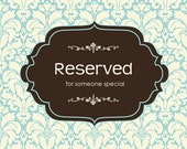 Reserved for Patricia