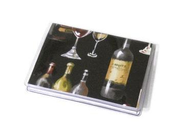 Card Case Mini Wallet Wine Bottles