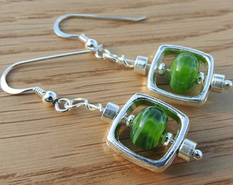 Uptown - Lampwork Bead earrings