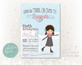 Printable Ice Skate Party Invitation by Beth Kruse Custom Creations
