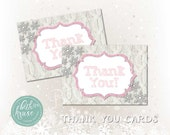Winter ONEderland Thank You Card Instant Download by Beth Kruse Custom Creations