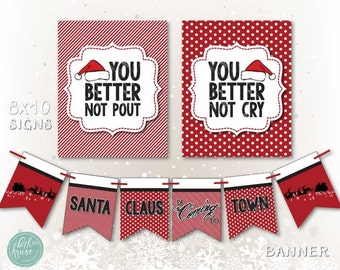 Santa Printable Red and White Collection Instant Download by Beth Kruse Custom Creations
