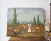 Vintage Oil Painting - Impressionism Landscape