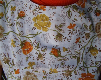 Special Needs Apron Spring Flowers Adult Bib reversible extra long