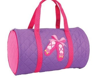 Personalized Stephen Joseph Girls Duffle Bag/Ballet Bag