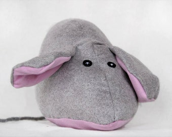 mouse plush stuffed animal Cute doll soft doll hug buddy sleep friend kawai grey pink