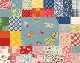 Hop, Skip and a Jump Fat Quarter Bundle by American Jane for Moda Fabrics