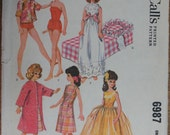 Fashion Doll Wardrobe Pattern McCall's 6987 from 1963