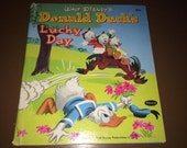 Donald Duck's Lucky Day 1951 Walt Disney Hardback Whitman Book USA Illustrated