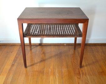 Mid Century Scandinavian Teak Folding Tray Table