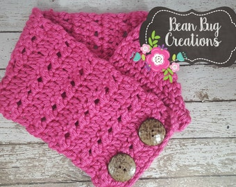 Cowl, button cowl, boston harbor scarf, two button cowl, teen cowl, adult cowl, fall cowl, winter cowl, scarf, infinity scarf, crochet cowl