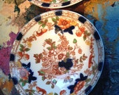 Doric China set of two plate and bowl Burmah pattern
