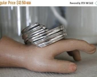 SHOP SALE Vintage Modern Silver Toned Clamper Cuff Bracelet