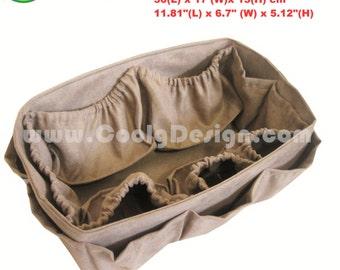 Diaper Bag Organizer, Diaper Bag insert, Purse Organizer for Louis Vuitton Neverfull GM / Faux Suede