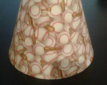 Baseball lamp shade