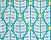ON SALE - Buttonwood in Grey and Aqua  - LA Dee Da  (pwEm038) - Erin McMorris - Free Spirit Fabric  - 1 Yard