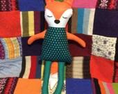 Ragdoll fox - ooak handmade doll - woodland animals - orange fox