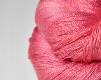Artificial rose coral  - Merino/Silk/Cashmere Fine Lace Yarn