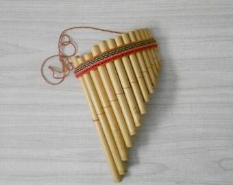 peruvian andean antara bamboo flute / pan pipe / whistle harmonica