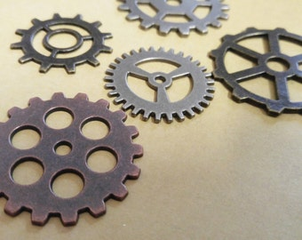 Clock Gears Watch Gears Large Gears Steampunk Gears Assorted Gears Mixed Lot Bronze Gears Copper Gears Silver Gears Steampunk Gear Big Gears