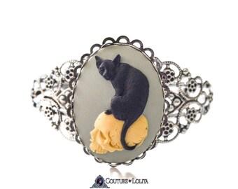 Catskull Victorian Rose Bracelet - Victorian Cuff