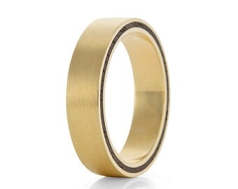 Wood Ring, 9ct Yellow Gold