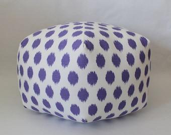 Ikat pouf,  dorm decor, ottoman, floor pillow, foot stool, floor cushion, dorm furniture, college gift, dorm stool, pouf, dorm furniture