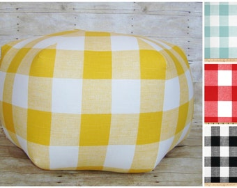 Floor pouf / Customize fabric / foot stool / floor pillow / plaid floor pouf - ottoman pillow - floor cushion - plaid foot stool