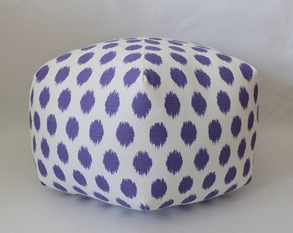 Ikat pouf dorm decor ottoman floor pillow foot stool