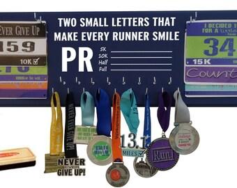 Running gifts, Marathon, medal display, 5k,10k, race bib holder, Half marathon, runner gift, running quote, Personal best, sign, memorabilia
