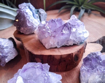 Amethyst Quartz Crystal Druse Cluster  - AMAZING Terrarium or Fairy Garden Accent! DIY Terrarium Supplies, Rocks and Minerals