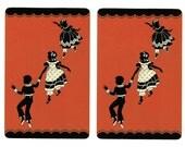 CHILDREN AT PLAY (2) Vintage Single Swap Playing Cards Paper Ephemera Scrapbook