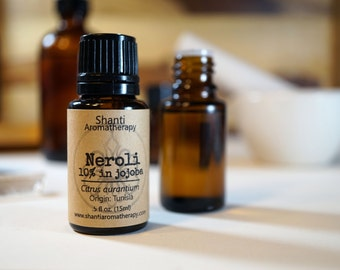 Neroli Essential Oil - 10% Neroli in jojoba - Orange Blossom
