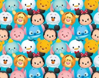Disney Tsum Tsum Blue Cotton Fabric, 1 yard