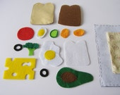 Making a Sandwich Quiet Book Page / Quiet Book / Cloth Activity Book / Birthday Gift For Toddler / Learning Book / Childrens Book /Felt Book