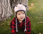 Big Bad Wolf hat, crocheted wolf hat