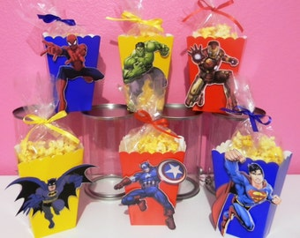 Super Heroes Snack Boxes - Set of 10